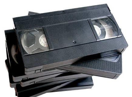 Gambar kaset VHS penyimpan data rekam video dari camcorder