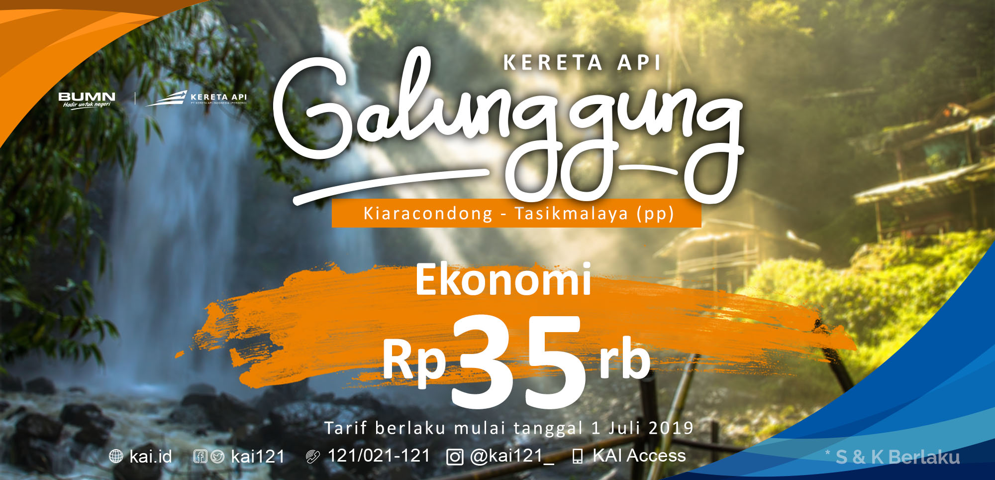 KA Galunggung mulai harga Rp 35ribu