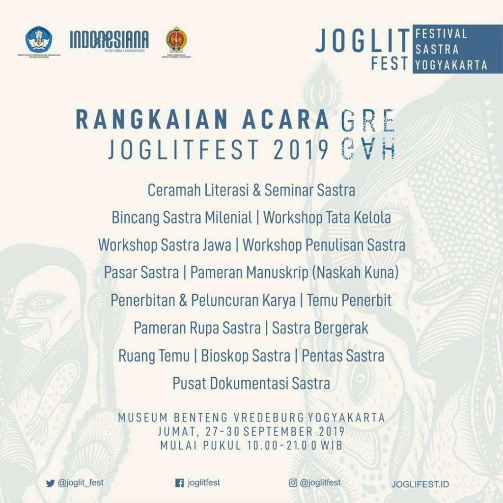 100 Sastrawan Rayakan Sastra di Joglitfest 2019