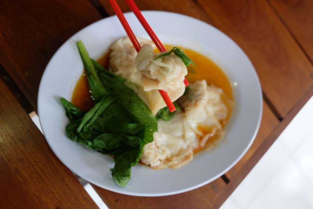 pangsit rebus yang yummy di Mie Sapi Banteng