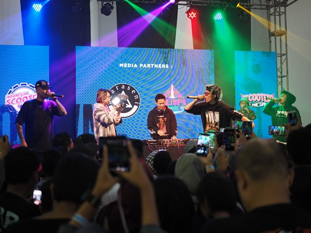 Atta Halilintar performance di Indonesian Scooter Festival 2019