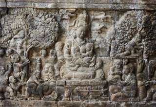 Hariti, Dewi Ibu dalam Panel Relief Candi Buddha