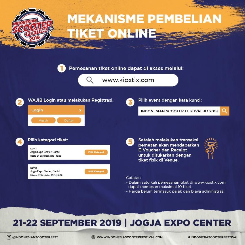 Mekanisme Pembelian Tiket Online Indonesian Scooter Festival 2019