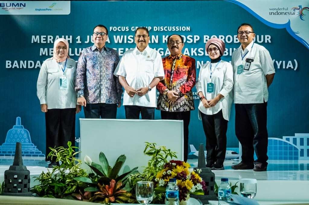 Kejar Target 2 Juta Wisman, Menpar Arief Yahya Gelar FGD di Bandara YIA