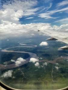 scenery from aeroplane