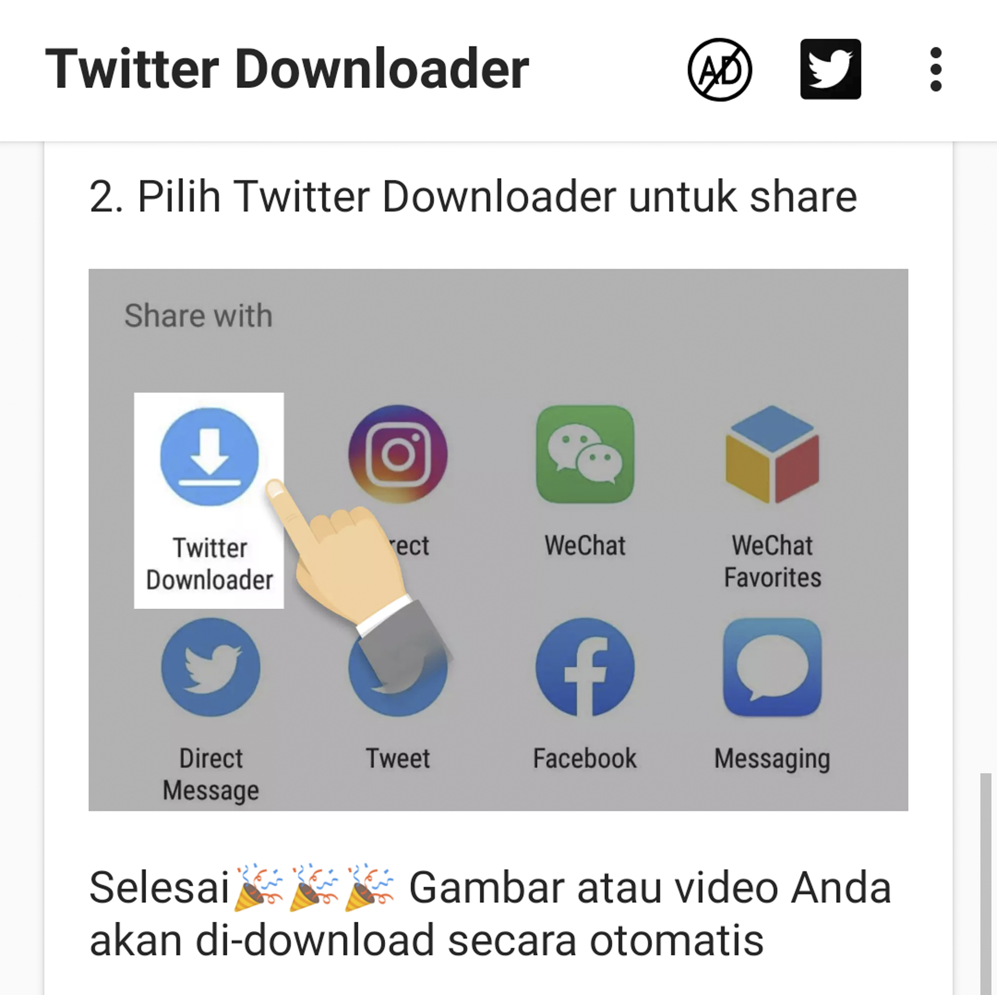 Aplikasi Twitter Downloader