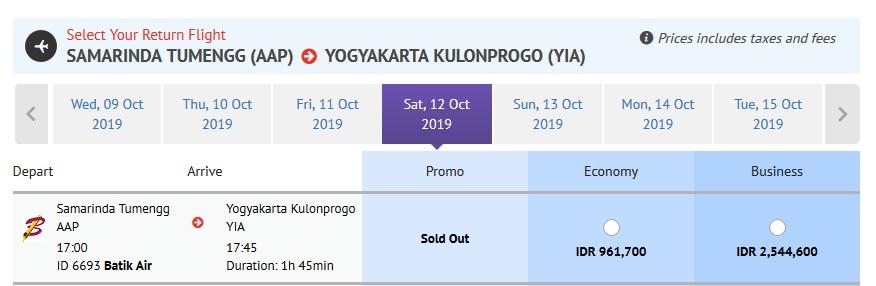 Batik Air Samarinda menuju YIA Direct Flight