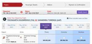 Batik Air YIA menuju Samarinda Direct Flight