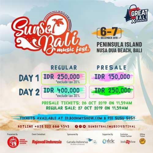 Sunset Bali Music Festival 2019