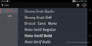 KineMaster Android Fonts