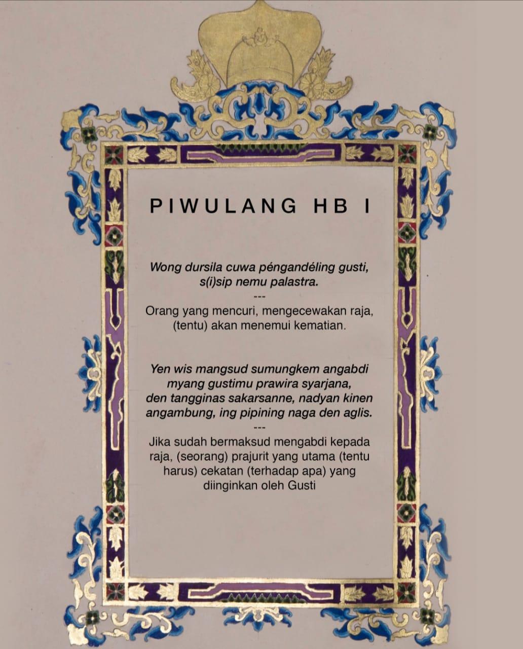 Piwulang HB I - Pameran Sekaten 2019