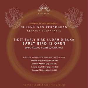 Harga Tiket Early Bird Simposium Internasional Kraton Jogja 2020
