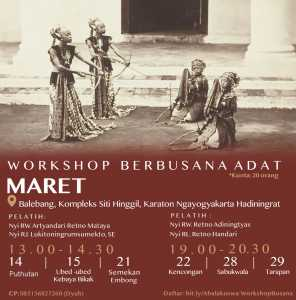Workshop Berbusana Adat Kraton Jogja