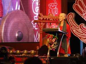 Jennifer Lindsay dari The Australian National University salah seorang pembicara di Simposium Internasional Kraton Jogja