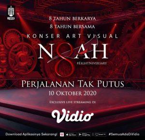Rayakan Ulang Tahun ke-8, NOAH Gelar Konser Art Visual Pertama di Indonesia