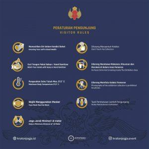 Peraturan Berkunjung ke Pameran Sang Adiwira Kraton Jogja